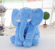 Unimall 100% Cotton Elephant Baby Pillow 60 cm Soft Animals Plush Cuddly Elephant Teddy Pillows for Newborn Gifts Children Baby Sleeping Toys Blue