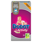 Dodot Activity, Size 3, For Children Weighing 5-10 kg - 56 Nappies