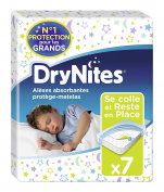 Huggies DryNites Bed Pad Mattress Protectors 7 Pieces - Pack Of 2