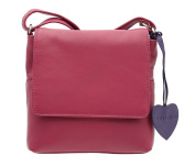 Mala Leather ANISHKA Collection Compact Leather Shoulder / Cross Body Bag 772_75 Pink