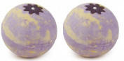 Pack of 2 Oriental Flower Whole Ball Fizzers