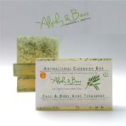 Anti Bacterial Soap - Tea Tree & Poppy Seeds - Face & Body Acne Treatment with Witch Hazel Extract & Chamomile Infusion Oil