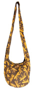 Hippie Bags Purse Brown Dragonfly Small Ladies Hippy Hobo Hand Made Festival Cotton