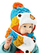 Cosanter Baby Beanie Warm Hat Scarf Set Winter Knitted Toddler Hat 0-3 years old