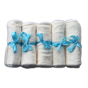 Premium Bamboo Baby Wash Cloths (Pack of 6) - Ultra Soft and 100% Natural, Machine Washable, Gift Set