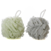 Mesh Bath and Shower Sponge Loofahs Mesh Brush Shower Ball Bath Shower Sponge Pouffe Pack of 2