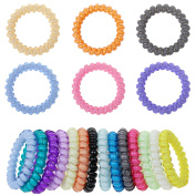 Mokale 20PCS Hair Ties Ponytail Holders - Large Boutique Girls Stretchy Elastic Hair Ropes Bands Styling Accessories for Women and Ladies