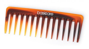 Basicare Tortoise Shell Effect Wide Tooth Rake Detangling Comb 14.5 cm