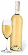 STAR CUTOUTS Glass And White Wine Life Size Cardboard Cut Out, Multi colour