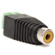 Cablematic - Adapter RCA female to terminal block