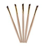 HimanJie Professional Black Flat Angled Eye Brow/Eyeliner/Eyeshadow Makeup Brush