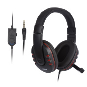Gaming Headset - LESHP 3.5mm Wired Over-head Stereo Gaming Headset Headphone with Mic Microphone, Volume Control for SONY PS4 PC Tablet Laptop Smartphone Xbox One