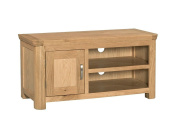 Crescent Curve Solid Oak 1 Door TV Cabinet / Contemporary TV Cabinet Fully Assembled