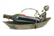 Original bottle holder - Fisherman in boat - Colour GREY