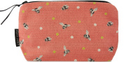 Bee make up bag - coral