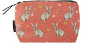 Rabbit makeup bag - coral