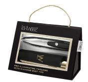 Black PRO Illuminating Tweezers & Mirrored Carry Case with Diamond Dust Tips