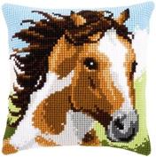 Fiery Stallion Cushion Cross Stitch Kit-41cm x 41cm