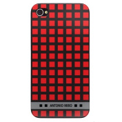 Antonio Miró amccro Case and Screen Protector for iPhone 4/4s-rouge