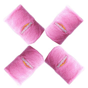 COOLOMG Towel Wrist Sweatband 4 Pieces a Set Wristband for Basketball Tennis Badminton Available in 7 Colours