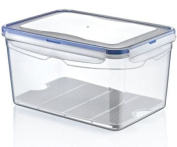 2 x 9 Litre Large Air Tight Containers Boxes Clear Plastic Food Storage Container