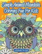 Simple Animal Mandala Coloring Fun for Kids