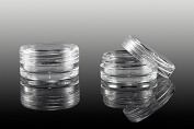 New Nail 1 X Screw Top Jar Container EMPTY CLEAR STORAGE BOX BOXES SET ACCESSORIES