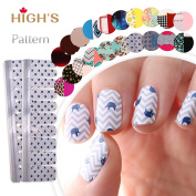 HIGH'S Pattern Series 2016 Summer Collection Manicure Nail Stickers Nail Wraps, Elephant