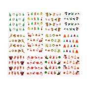 Demiawaking Christmas 12pcs Nail Art Decoration 3D Women Nail Art Stickers