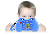 Toys Camera with Games - Digital photos for Kids with 6 Build-in Funny Games - Blue