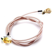 Yongse 100cm Extension RP SMA Female Bulkhead To U.FL IPX Connector Pigtail Cable