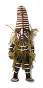 African Tribal Doll Shona Sculpture in Papier Machee 30 cm Fair Trade African Art Spirit Doll