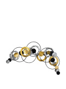 Rings and spheres composition Metal wall decoration, wall sculpture, hand made