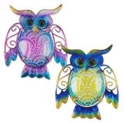 Art Deco Home - Wall Deco Ornament x2 Owls 15 cm