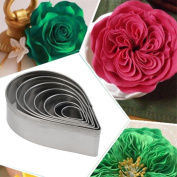 VALINK 7pcs/set Kitchen Stainless steel Baking Mould, Party Wedding Decor Water Droplet/Rose Petal Cookie Cake Cutters Biscuit Pastry Cupcake Fondant Mould Baking Tools