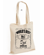 Worlds World's Best No Number 1 Dad Quality Awsome Like A Normal Dad Only Much Cooler Cotton Tote Bag