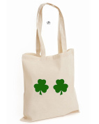 St Patricks Day Boobs Paddys Day Leprechaun Craic Is Mighty St Patrick's Leaf Shenanigans Clover Cotton Tote Bag
