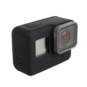 Silicone Protective Case for GoPro HERO5, Fone-Stuff® - Camera Frame Housing Rubber Cover Protector Skin in Black