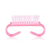 iLory 2PC Nail Cleaning Clean Brush Translucent Nail Art Dust Clean Cleaning Brush