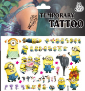 Latest Minions 2 II Despicable Me Selection of Temporary Tattoos