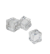 Clear Square Shape 15 Pcs Artificial Acrylic Ice Cubes Crystal Fake Ice Cubes For Party Wedding Home Photography Decor