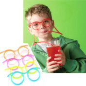 Kids Drinking Straw / Starworld Creative Drink Tube with Glasses Style / For Children Adult Funny Party Games / Randomly Sending