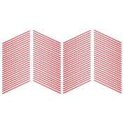 Rink Drink Plastic American Style Red Striped Drinking Straws - Pack Of 100