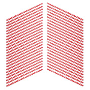 Rink Drink Plastic American Style Red Striped Drinking Straws - Pack Of 50