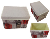 GMMH Storage Box Canvas Paris Rome England London Box Organiser