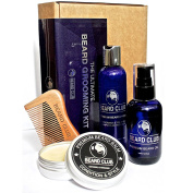 The Ultimate Beard Grooming Kit - Gift Set Includes Premium Quality Beard Oil, Balm, Shampoo, Comb & Box - This Years Best Present for Men Who Love to Care for Their Beards