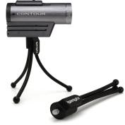 iGadgitz Flexible Mini Table Top Tripod for Contour Action Cam +2, Roam 2, Roam 3 with Pocket Clip - Black