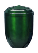 Urns UK Penzance Classic Adult Cremation Urn for Ashes, Steel, Emerald Green