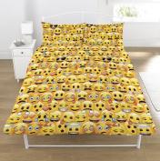 Emoji Rotary Duvet Set, Yellow, Double