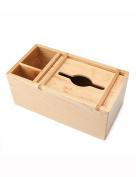 Pure Solid Wood Multifunction Tissue Box Remote Control Storage Box